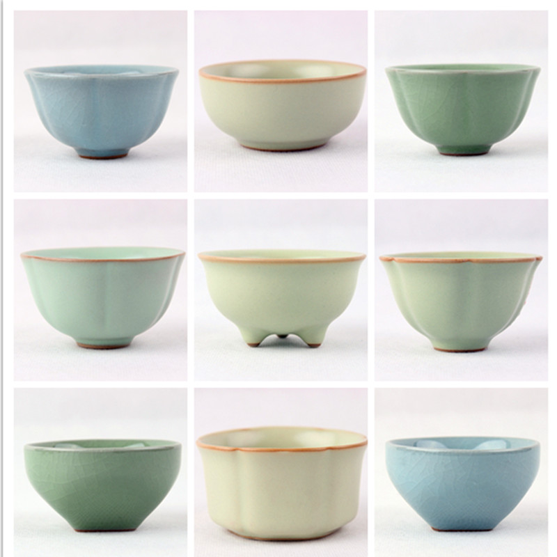 1pcs 45ml Ru kiln kiln ice crack master tea cups small tea cups single cup ceramic kung fu tea cup