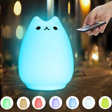 New Premium LED Colorful Silicone Animal Night Light Tap Rechargeable Remote Control Type For Christmas Gift