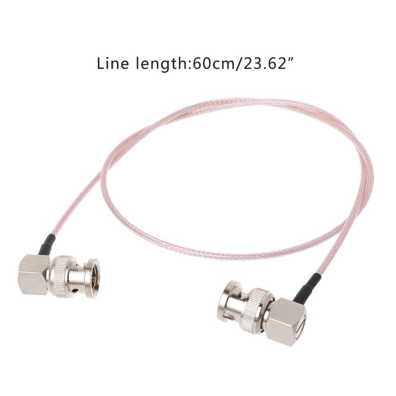 10-Pack BNC Male Right Angle to BNC Male 75Ohm RG-179 3G HD SDI Vedio Cable 2m