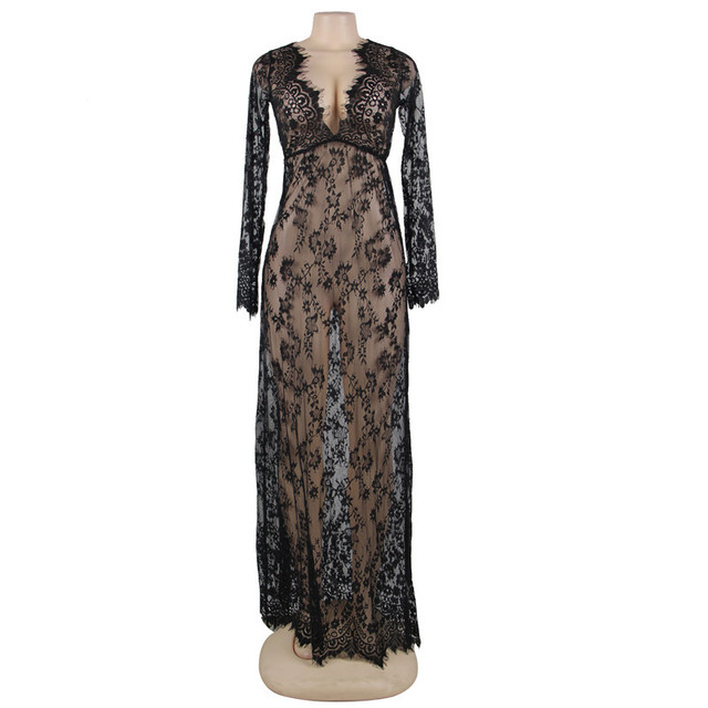 Plus Size Nightgown Lace 8