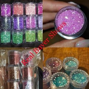 Image 5 - Holographic Effect Nail Glitter SET For UV Gel Polish 17Col Fine Glitter Sparkles Acrylic Nailart Glitter  Manicure Dust 4/6 jar