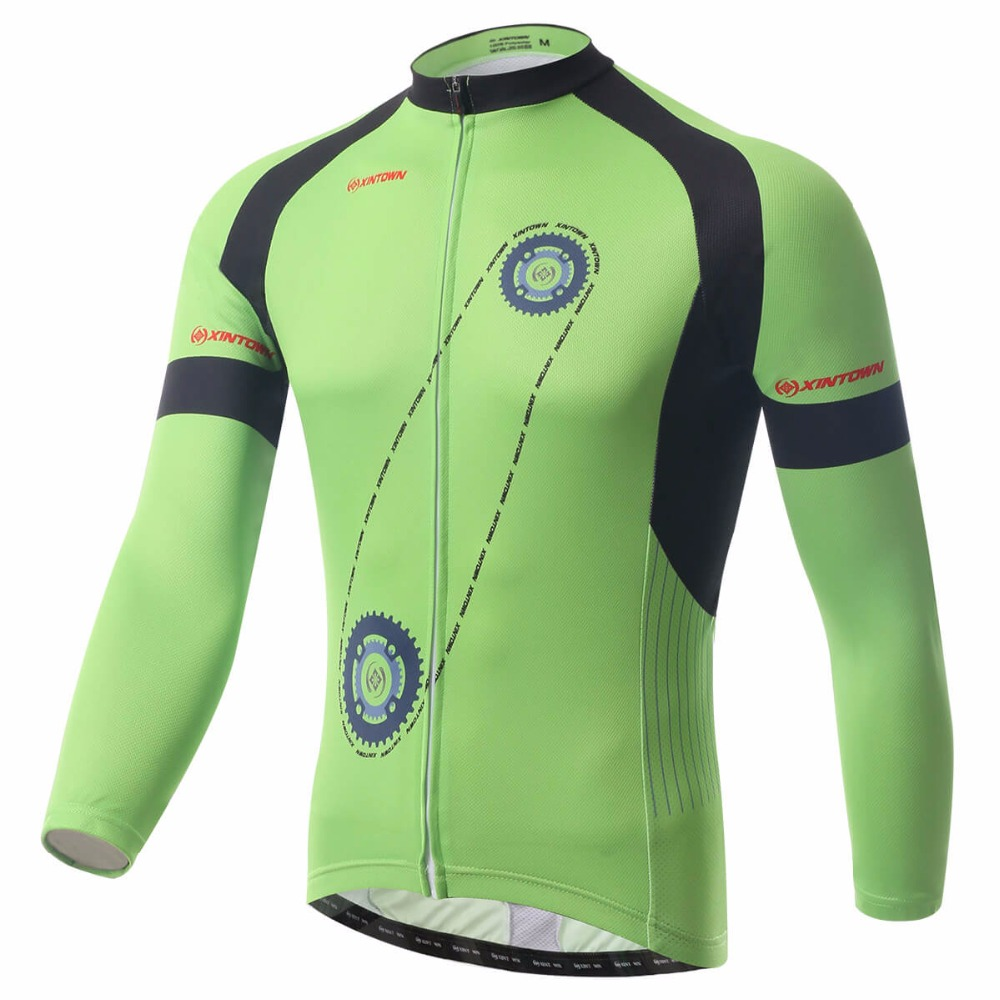 XINTOWN Spring Autumn Cycling Jersey Bicycle Long Sleeves Mountaion MTB Jersey Clothing Shirts Running Riding Cycling Jerseys