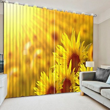 Modern Home Custom Sunflower Bedroom Living Room Kitchen Textile Luxury 3d Window Curtains Buy At The Price Of 77 11 In Aliexpress Com Imall
