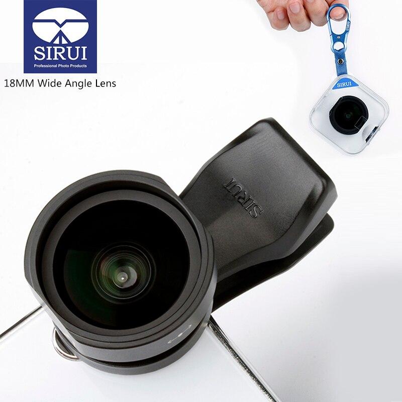 Sirui 18mm Ampio Angolo di Obiettivo Del Telefono HD 4 k Lenti Della Macchina Fotografica Del Telefono per il iphone Xs Max X 8 7 huawei P20 Pro Samsung S8 S9 Clip-On Lens