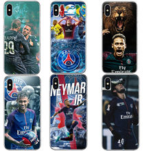 Football Star French Paris Saint Germain PSG Cover for iPhone 5 5S SE 6 6S Plus 7 8 Plus Neymar jr Hard Phone Cases For iPhone X(China)