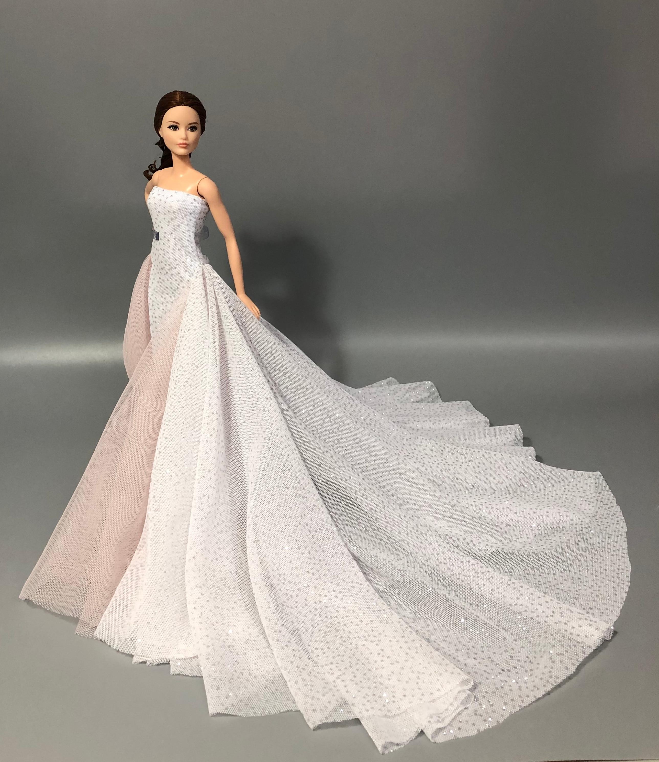 The Original For Barbie Dress Barbie Doll Clothes Wedding Dress Quality Goods Fashion Skirt Princess Dress Doll Accessories