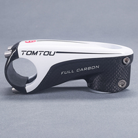 TOMTOU High Quality Glossy Full 3k Carbon Stem 6 Degrees Road Bike 80 90 100 110mm