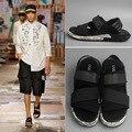Новый 2016 мужская дизайн высокого качества из натуральной кожи сандалии мужские удобные sandalias летом стиль плоские туфли