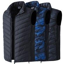 2018 Мужская Уличная USB Инфракрасная нагревательная жилетка куртка зимняя электрическая углеродное волокно теплая моющаяся куртка для спорта Туризм Рыбалка