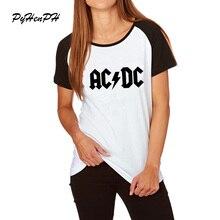 Новейшая мода, женская футболка в стиле рок, летняя, хип-хоп, ACDC, черная, с буквенным принтом, футболки для женщин, крутая рэп-музыка, женский топ с коротким рукавом