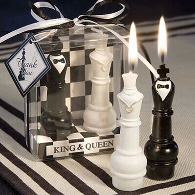 new King and Queen chess wedding candle gifts wedding give away for guest wedding souvenirs bridal shower favor party supplies & new King and Queen chess wedding candle gifts wedding give away for ...
