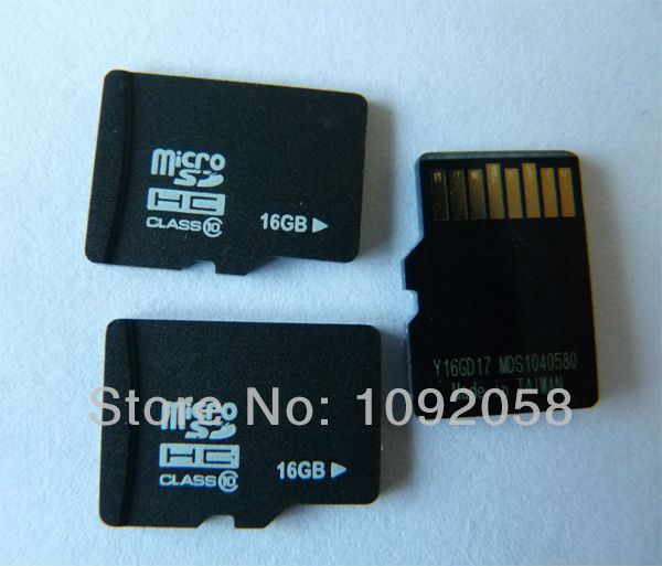1PCS Free shipping full capacity 16GB class 10 Micro SD card with SD adapter