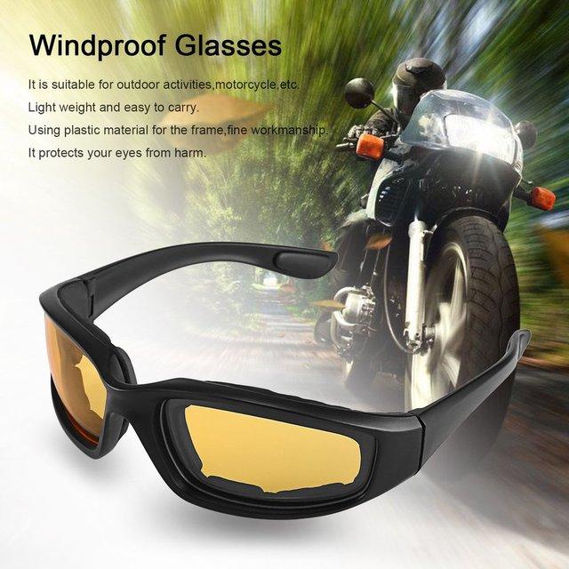Nova motocicleta óculos de proteção à prova de vento dustproof óculos de olho ciclismo óculos de proteção esportes ao ar livre óculos quentes 3