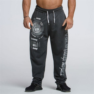Image 4 - 2019 novos homens joggers cor sólida calças esportivas calças de ginásio de algodão elástico calças compridas homens rendas calças esportivas masculinas leggings