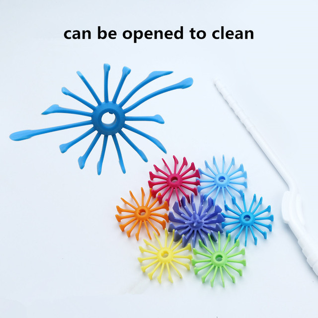 New Silicone Baby Bottle Brushes for Cleaning Kids Milk Feed Bottle Nipple Pacifier Nozzle Spout Tube Cleaning Brush 5