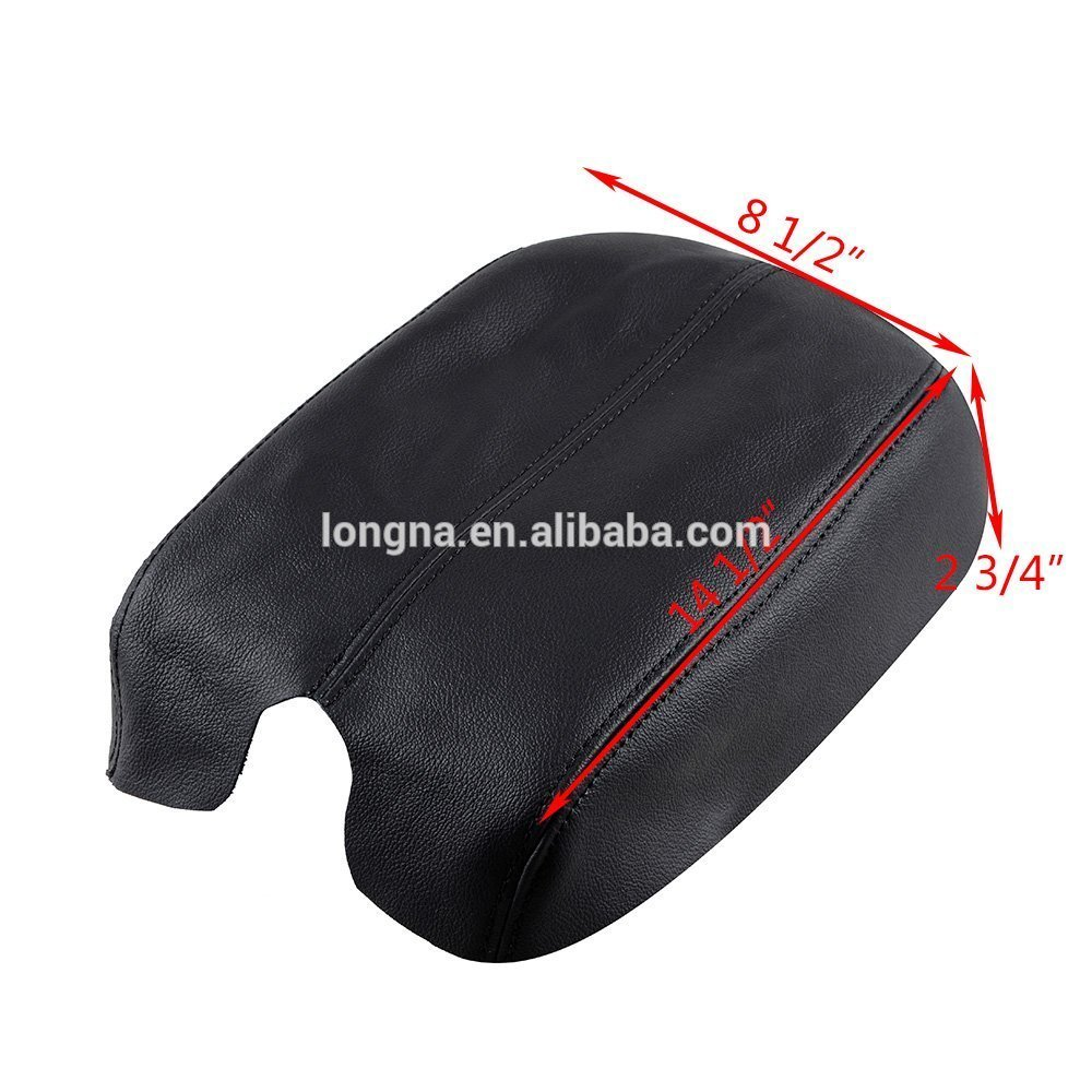Fit Honda 2008-2012 Accord Leather Console Lid Arm Rest Armrest Cover BLACK