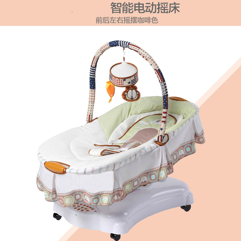 musical baby cradle electric shaking crib baby sleeper artifact bb bed rocking chair baby hammock swings with walker wheels in cradle from mother  u0026 kids on     musical baby cradle electric shaking crib baby sleeper artifact bb      rh   aliexpress