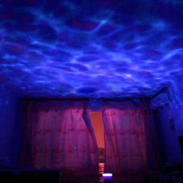 Luzes da Noite mestre oceano de onda de Fonte de Luz : Lâmpadas Halógenas