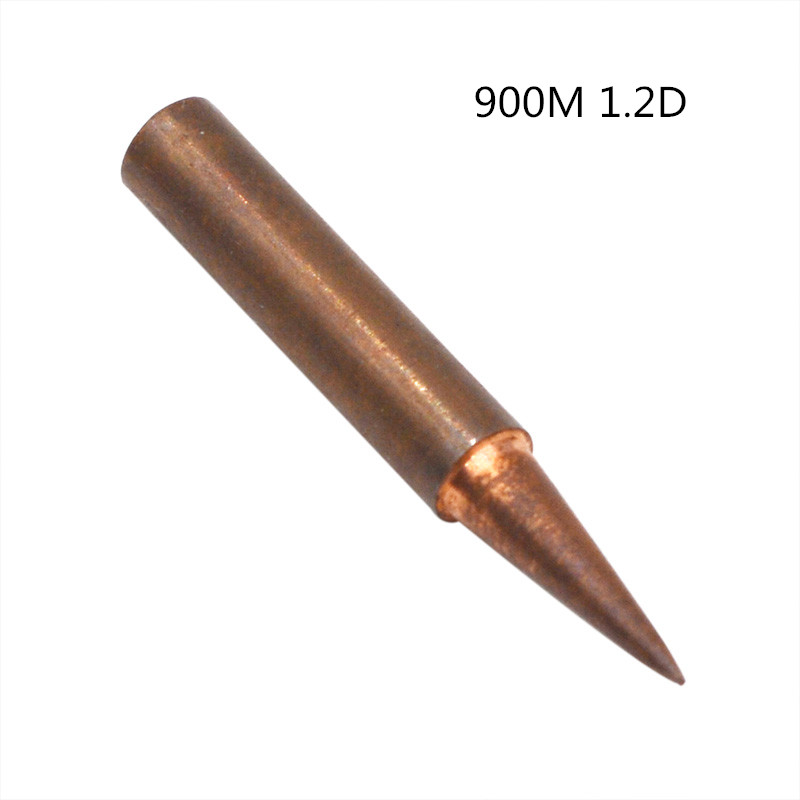 900M 1.2D Pure Copper Soldering Iron Tip Lead-free Welding Sting For Hakko 936 FX-888D Saike 909D 852D+ Soldering Iron Station