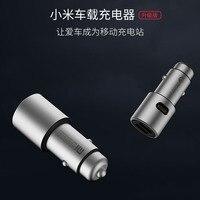 Original Xiao Mi autolader Xiao mi autolader qc 3.0 DUAL usb Snel OPLADEN Max 5 V/3A metalen dual Usb SNEL Opladen