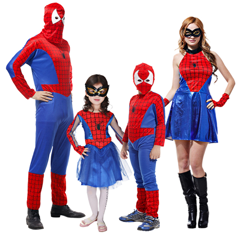 Red Spiderman Costume Spider Man Suit Spider-man Costumes Adults Children Kids Spider-Man Cosplay Clothing Spiderman Hero Mask