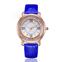 Fashion brand women watches leather strap casual lady wristwatches