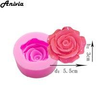 3D большой цветок розы помадка торт шоколад Sugarcraft формы резак силиконовые M DIY