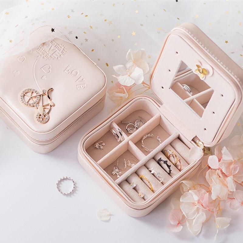 De embalaje de la joyería caja ataúd caja exquisita maquillaje de belleza cosméticos organizador contenedor Cajas de Regalo de Cumpleaños