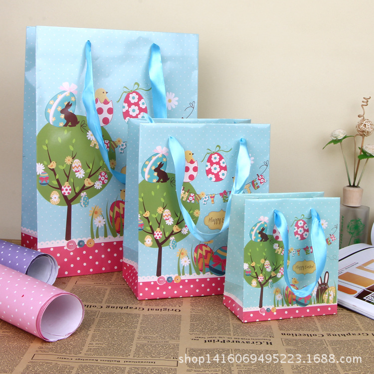 Aliexpress buy happy easter color gift bag creative easter aliexpress buy happy easter color gift bag creative easter egg paper hand bag portable party favors gift package for sale sd778 from reliable package negle Choice Image