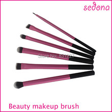 Pink super soft taklon hair makeup brush basic professional kit