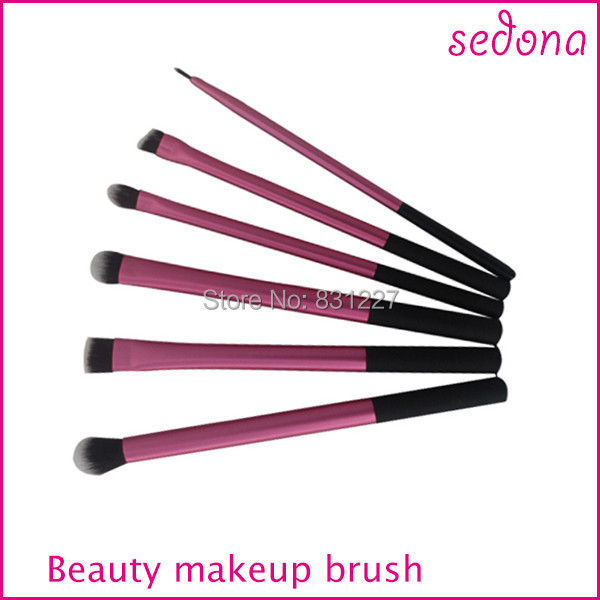 Pink super soft taklon hair makeup brush basic professional kit