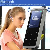 Mini C15 1.77in TFT Bluetooth 4.1 HiFi 8G/16G Media MP3 MP4 Player Video Touch Keys FM Music Film Metal Recorder Portable