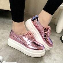 Mode Lackschuhe Frau Handgefertigte Designer Damen Loafers Flache Plattform Schuhe Für Frauen Creepers Beiläufige Wohnungen