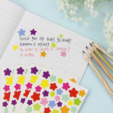 12 Sheets/2set Korean Style Color Heart Star Paper Sticker Decoration Sticker Multifunction Kawaii Post It Stationery Sticker