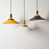 Fashion Small Restaurant Decor Pendent Light Aluminum Color Modern Cafe Living Room Chandelier Home Lamp Yellow White Lights