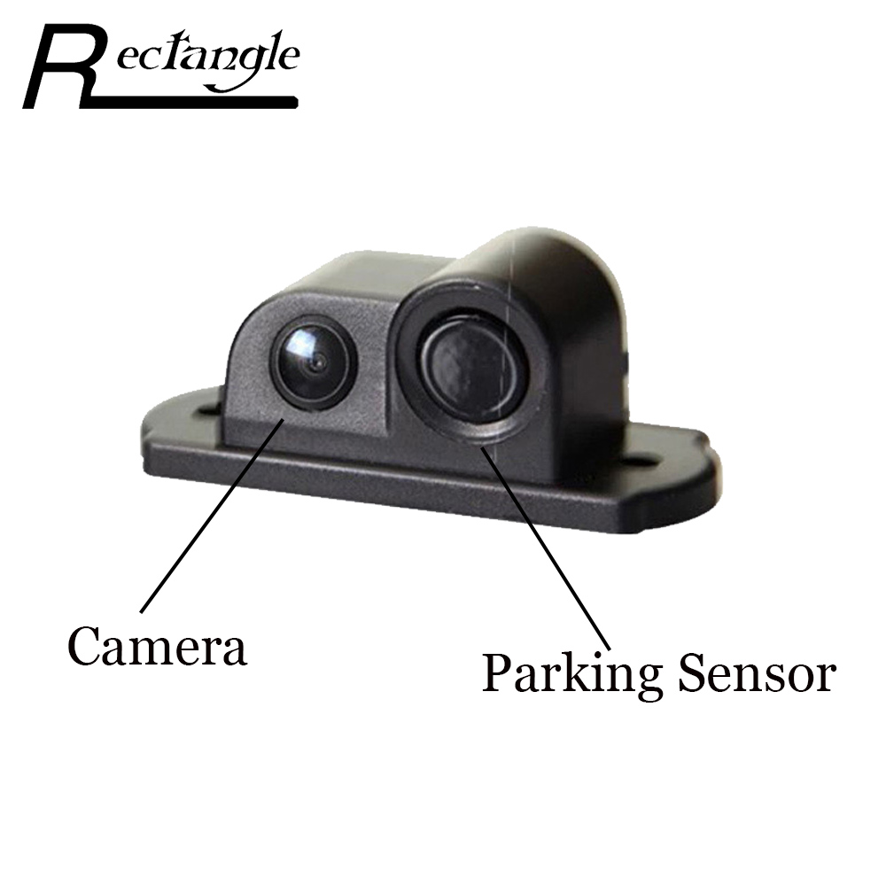 pz430 2 in 1 car parking sensor 170 angle degrees rear view camera waterproof backup reverse. Black Bedroom Furniture Sets. Home Design Ideas