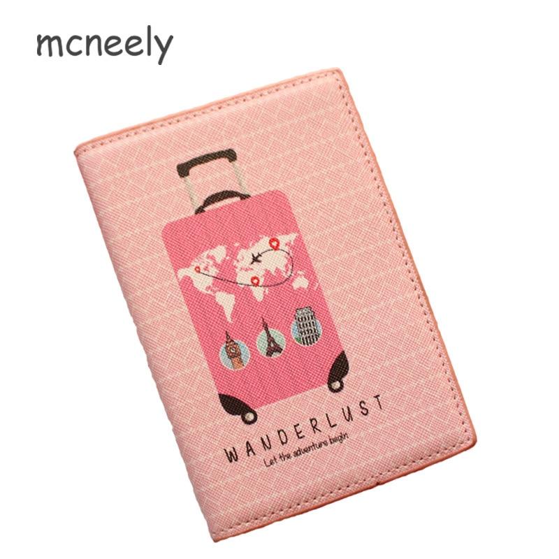 9e1ca9802348 Wanderlust Passport Holder Protector Wallet Business Card Pink Passport  Cover Travel Men Wallets Women Credit Card Holder Cover