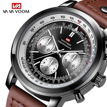 Men Sport Watch Chronograph VA VA VOOM Quartz Army Military Watches Clock Men Top Brand Luxury Male erkek saat 2019