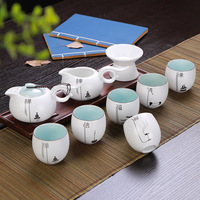 Ceramic new set of kiln ten Kung Fu tea sets elegant pot of tea gifts