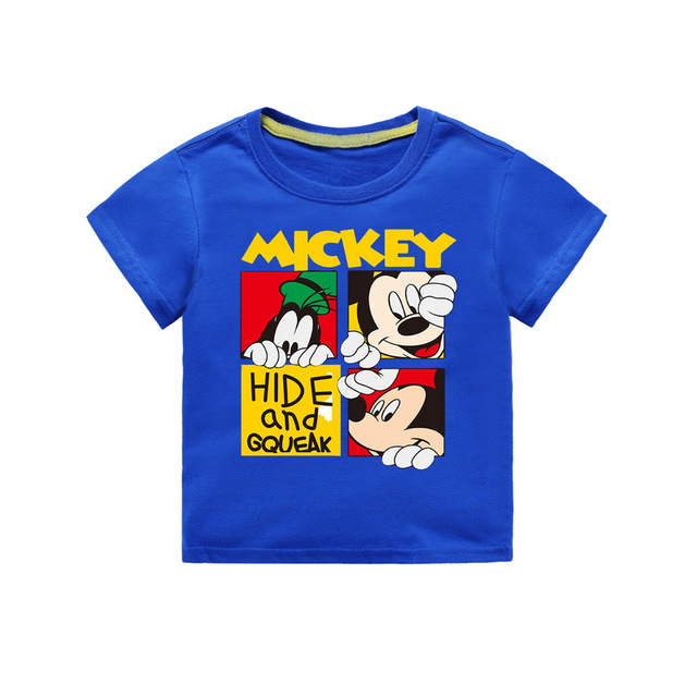 Jargazol Toddler Baby Girl Boy T Shirt Vetement Enfant Fille Cartoon Mickey Printed Short Sleeve Camisetas Calsual Tee Tops