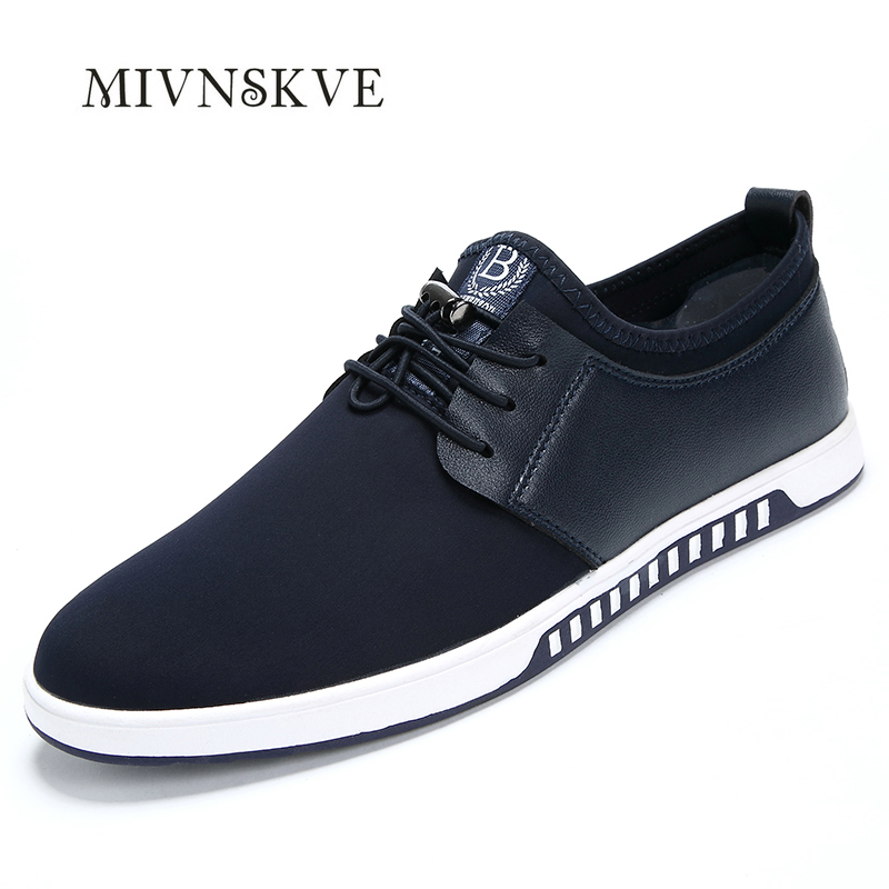 ФОТО 2017 Spring And Autumn Fashion Breathable Men Casual Shoes Lace Up Rubber Men Flats Shoes Luxury Brand Designer Men Shoes 39~44