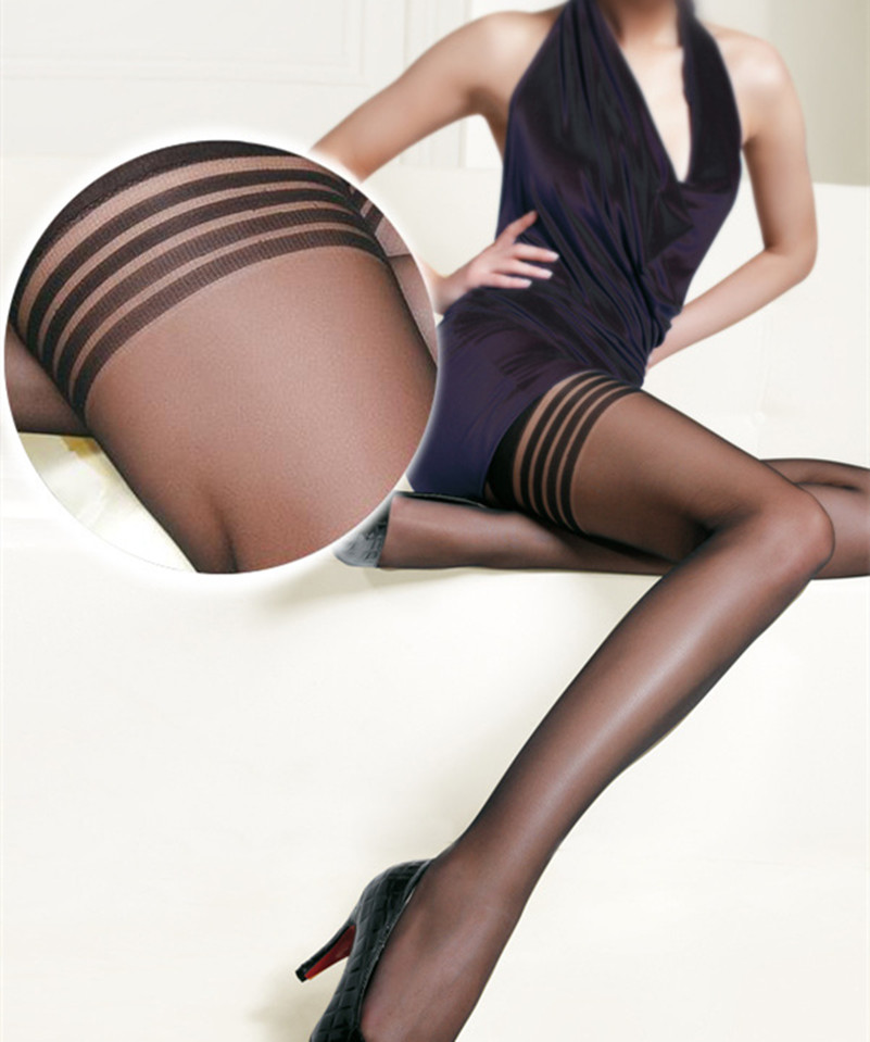 Sexy Tights Women Mesh Black Stocking Thigh High Knee Hosiery Sexy Lingerie Pantyhose Sexy Anti-slip Stockings BA050