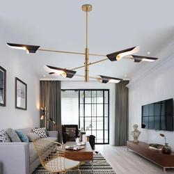 Nordycki styl postmodernistyczny żyrandole do salonu światła proste kreatywne restauracja projektant osobowości ukośne rury lampy wiszące w Żyrandole od Lampy i oświetlenie na