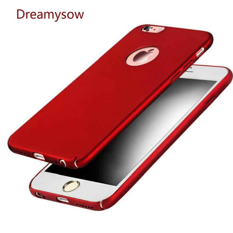 Ультра тонкий жесткий кожа матовая задняя крышка для iPhone X 8 7 6 6 S Plus SE 5S 5 ударопрочный телефон чехлы для iPhone 6/6 S 7 Plus