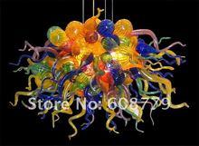 Girban Brand 100% Mouth Blown Borosilicate Murano Glass Multicolor Chandelier Lamp