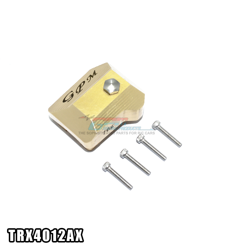 Free shipping TRAXXAS TRX-4 TRX4 82056-4 Brass copper front / rear wave box cover speed gearbox cover - set TRX4012AX free shipping 4 box cover glass 400pcs 18 18mm 2 box microscope slides 100pcs microslide 25 4 76 2mm
