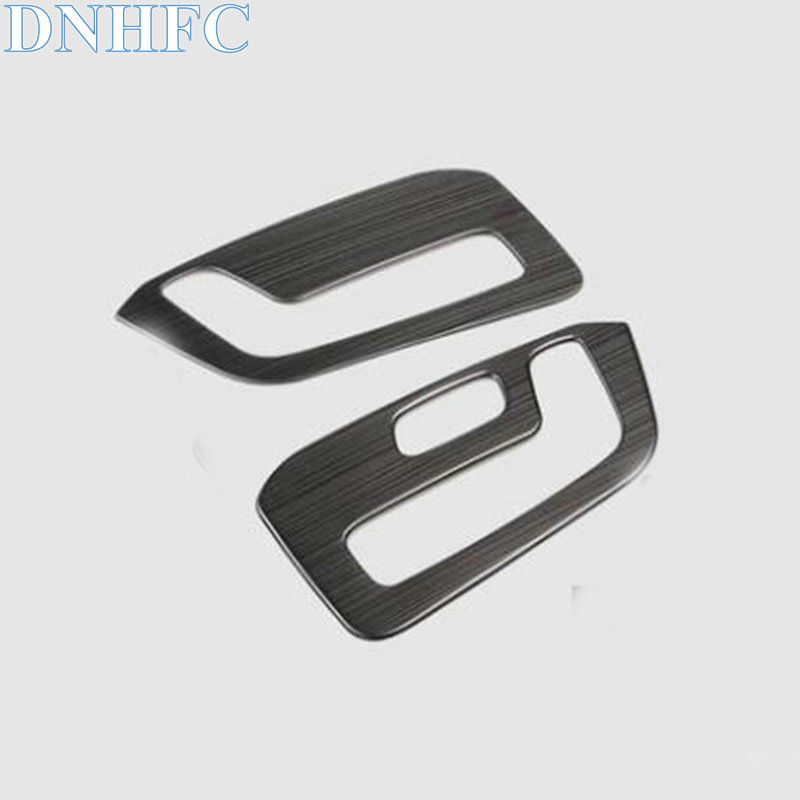 DNHFC Driver and Passenger Front Seat Adjustment Switch Cover For MAZDA CX-5 CX5 KF 2nd Generation LHD 2017 2018 Car Styling for mazda cx 5 cx5 2017 2018 2nd gen lhd auto at gear panel stainless steel decoration car covers car stickers car styling
