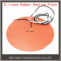 Delta Kossel 3D Printer DIY 200 Mm Round Silicone Rubber Heating Plate Film Mat 12V 200W
