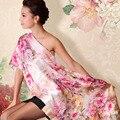 2014 Novo Design de Outono das Mulheres Seda Amoreira Lenço De Seda Xale 175*52 cm Impressão Digital Feminino Longo Projeto Lenço de seda Wraps