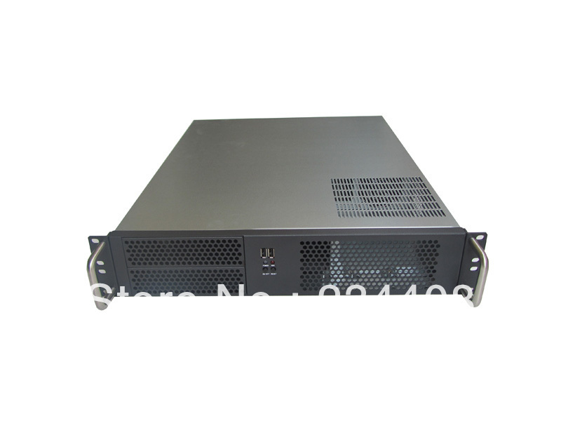 2u server computer case pc power supply large-panel 2 optical drive bit 4 hard drive 2u industrial computer case